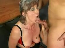 Two old sluts invited on kinky orgy