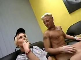 Second hand slutty with cigarette fucking for money