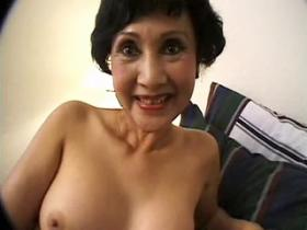 Lovely Asian milf in fuck and blow threesome