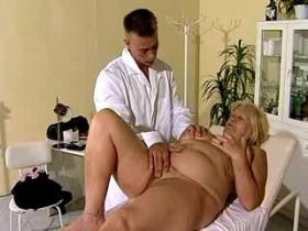 Young doctor has fun with 60 yo respectable madam