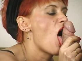 Old redhead mom turned to be horny sex loving slut