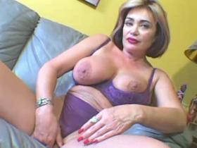 Lustful busty matron cant get enough vibrator
