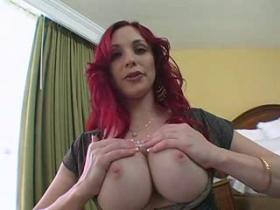 Adorable redhead milf fleshing her perfect body
