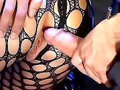 Hot milf in net outfit gets assfuck