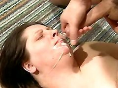 Old plump lady gets fresh cumload