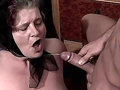 Depraved granny gets hard fuck and catches cumshot
