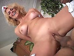 Elder mature has oral and titsfuck n jumps on cock