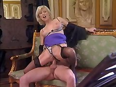 Blonde beautiful milf sucks n has fuck from behind