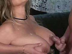Mature has hot fuck in orgy n gets cumshot in tits
