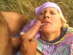 Old farmers wife gets facial after sex with young man