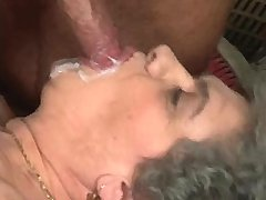 Lewd granny fucks in diff positions n gets facial
