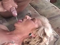 Depraved granny has hot fuck and gets fresh facial