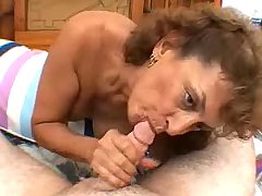 Guy and his father screwing granny in stockings
