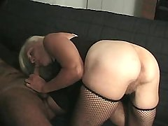 Granny sucks big cocks and gets cumshot in mouth