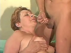 Aged mature gets facial after fuck in diff poses