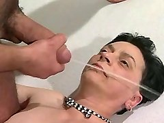 Aged lewd mature gets strong facial after hot fuck