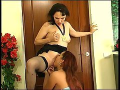 Lillian&Klaris pussylicking mature on video