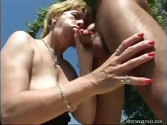 Lonely mature fucked in the countryside