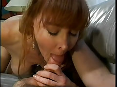 Redhead milf sucks cock and fucks