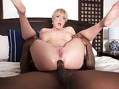 Dee Williams takes a big, black cock up her ass