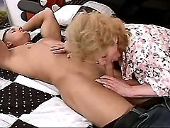 Elder mom sucks n fucks from behind