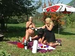 Grannies orgy on picnic
