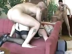 Hot stud fucking rude granny