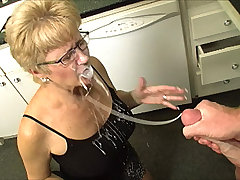 Joey get punished by playing on his phone instead of washing the dishes. Tracy grab his cock and start stroking it hard and fast. Joey loves the punishment and he will never wash the dishes for him to get milking cock everyday