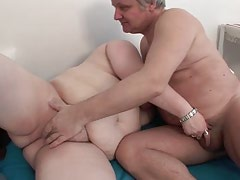 Chubby mom gets her mouth ruined with dick