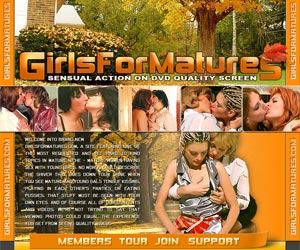 Girls For Matures - Sensual action on DVD quality screen